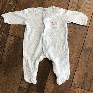 Baby Blue Sleep & Play Pajamas with Bear & Stars